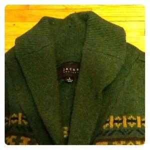 Jach's New York Hunter Green Shawl Collar Sweater